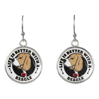Life Is Better With A Beagle Earrings