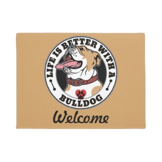 Life Is Better With A Bulldog Doormat