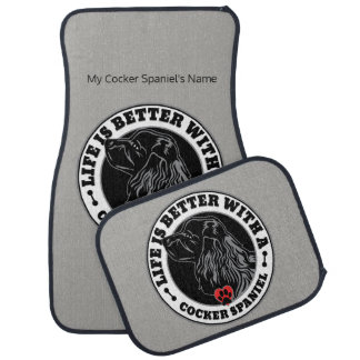 Life Is Better With A Cocker Spaniel Personalized Car Mat