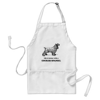 Life Is Better With A Cocker Spaniel Standard Apron