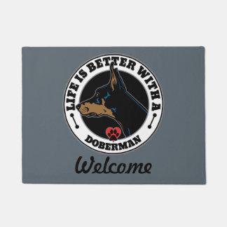 Life Is Better With A Doberman Doormat