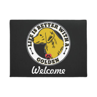 Life Is Better With A Golden Retriever Doormat