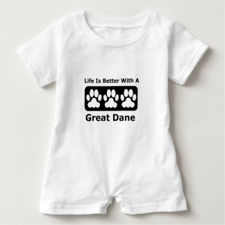 Life Is Better With A Great Dane Baby Bodysuit