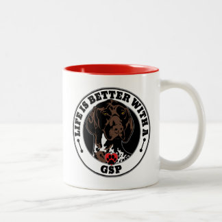 Life Is Better With A GSP Dog Breed Two-Tone Coffee Mug