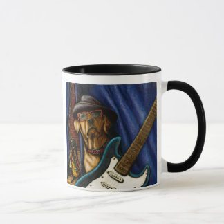 """Life is Better With a Guitar"" Yellow Labrador Mug"