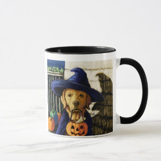 """""""Life is Better With a Lab"""" Halloween Witch Mug"""