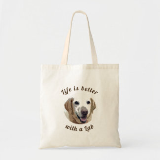 'Life is Better with a Lab' Tote Bag