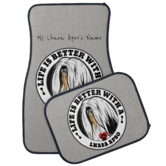 Life Is Better With A Lhasa Apso Dog Personalized Car Mat