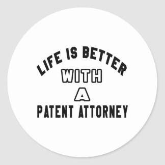 Life Is Better With A Patent attorney Stickers