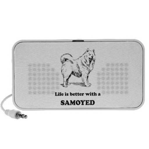Life Is Better With A Samoyed Mp3 Speakers