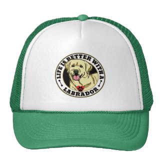 Life Is Better With A White Labrador Dog Breed Cap