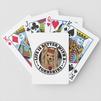 Life Is Better With A Yorkshire Dog Breed Poker Deck