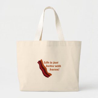 Life is better with Bacon Jumbo Tote Bag
