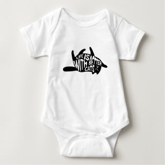 Life is better with cats | Fun Typography Baby Bodysuit