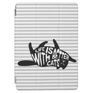 Life is better with cats | Fun Typography iPad Air Cover