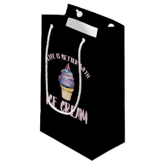 life is better with ice cream cones small gift bag