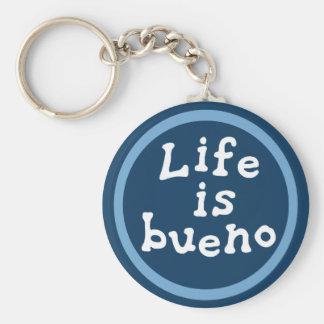 Life is bueno key ring