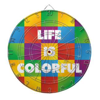 Life is Colorful Dartboard With Darts