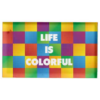 Life is Colorful Table Card Holders