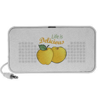 LIFE IS DELICIOUS NOTEBOOK SPEAKERS