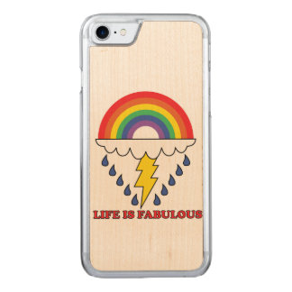 Life Is Fabulous Carved iPhone 8/7 Case