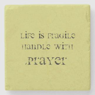 Life is Fragile Marble Stone Coaster