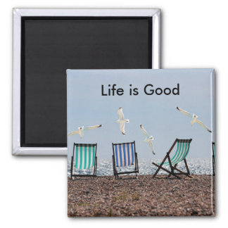 Life is Good Beach Magnet