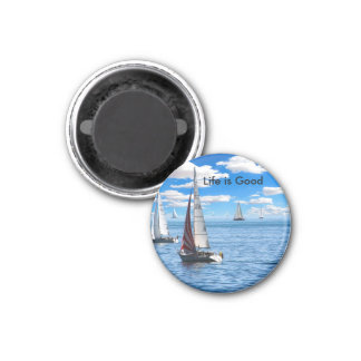 Life is Good Sailing Magnet