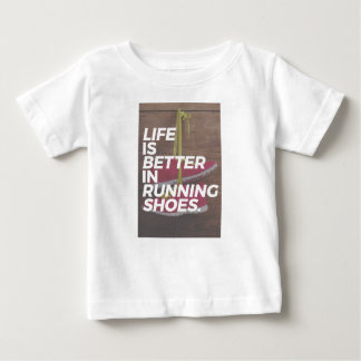 Life Is Good When You Run Baby T-Shirt