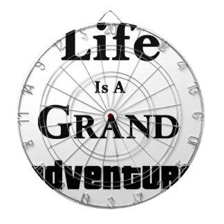 Life Is Grand Adventure Dartboard