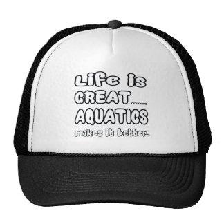 Life Is Great Aquatics Makes It Better. Mesh Hats