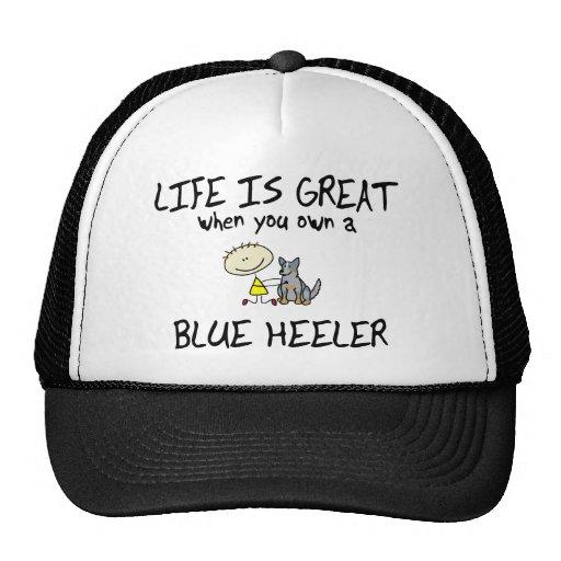Life is Great Blue Heeler Hats