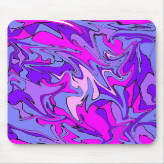 Life is Groovy, Man! Cool Retro Funky Line Mouse Pad