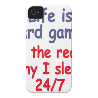 Life is hard game, it is the reason why I sleep Case-Mate iPhone 4 Case
