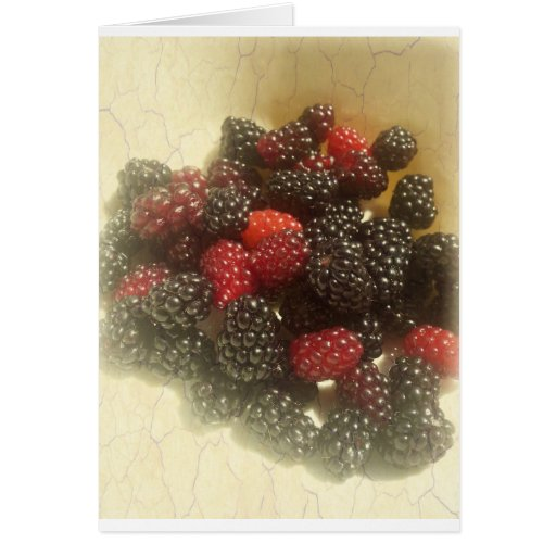 Life is just a bowl of berries card