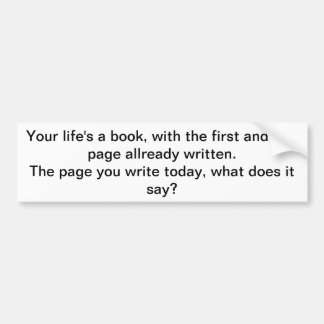life is like a book bumper sticker