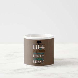 Life is Like a Box of Chocolates Quote Print Espresso Mug