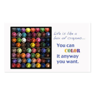 Life  is like a box of crayons business cards