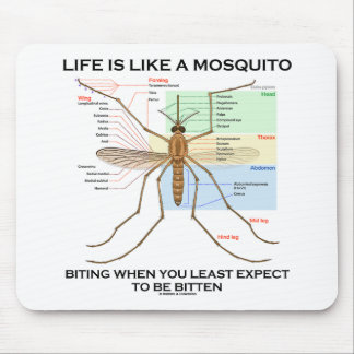 Life Is Like A Mosquito Biting When Least Expect Mouse Pad