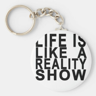 LIFE IS LIKE  A REALITY SHOW . KEY RING