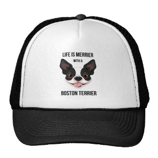 Life is Merrier with a Boston Terrier Cap