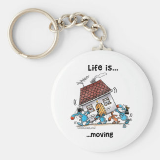 Life is Moving Basic Round Button Key Ring