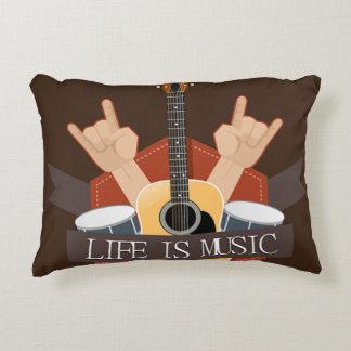 Life Is Music Decorative Cushion