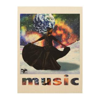 life is music wood print