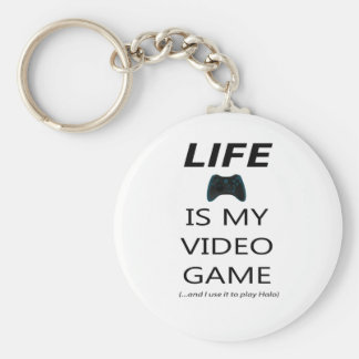 Life Is My Video Game (Halo) Keychains