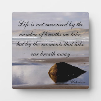 Life Is Not Measured Plaque
