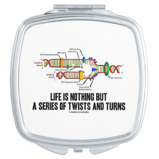 Life Is Nothing But A Series Of Twists & Turns DNA Mirror For Makeup