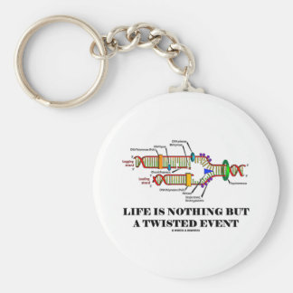 Life Is Nothing But A Twisted Event (DNA Humor) Basic Round Button Key Ring
