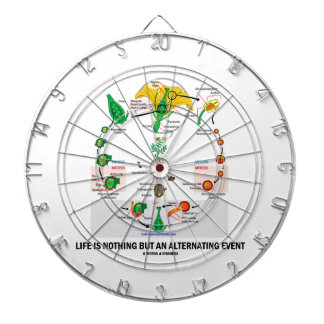 Life Is Nothing But An Alternating Event (Flower) Dartboards