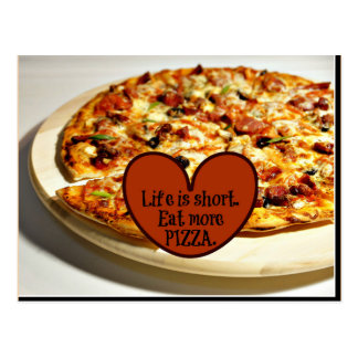 Life is short. Eat more Pizza, Postcard